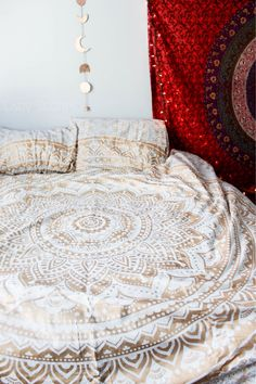 Golden Gypsy Goddess Mandala Tapestry by Lady Scorpio  ♡ Gypsy Bohemian Bedroom Inspiration