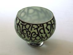 Glass Engraving, Calligraphy Letters, Carving, Vase, Home Decor, Decoration Home, Room Decor, Wood Carvings, Sculptures