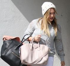 Hilary Duff Givenchy Antigona Celine Luggage Tote