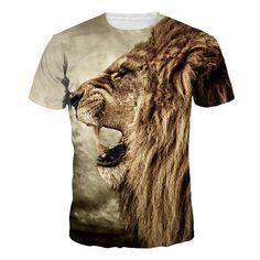 Size XXL Women Girl Brown Styish Tiger Digital Printed T-shirt Harajuku Te. women t-shirt. t-shirt for women. t-shirt for women. printed t-shirt for women. hip hop t-shirt for women. T Shirt 3d, Lion Shirt, 3d T Shirts, Rock T Shirts, Mens Tee Shirts, Casual T Shirts, Printed Shirts, Shirt Print, Print Tank