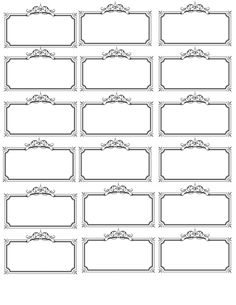 Free printable fancy name tags. The template can also be used for