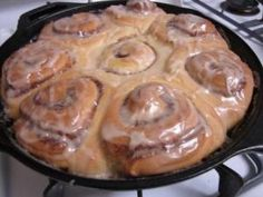Cast-Iron Cooking and Skillet Cinnamon Rolls