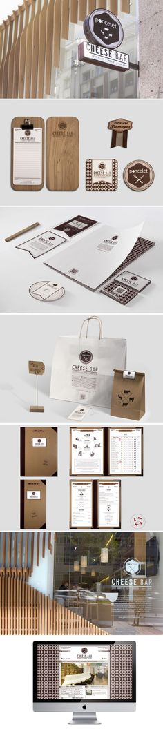 Poncelet Cheese Bar identity and packaging Corporate Design, Brand Identity Design, Graphic Design Branding, Typography Design, Logo Design, Identity Branding, Visual Identity, Corporate Identity, Web Design
