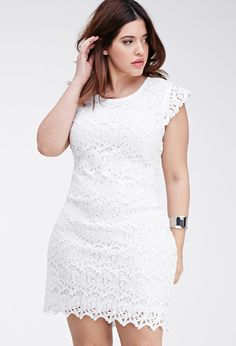 FOREVER 21+ Floral Crochet Dress