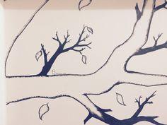 Rami di albero in casa