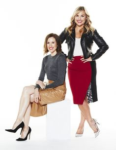 Love the outfit on the right | The duo behind Who What Wear, Hillary Kerr and Katherine Power