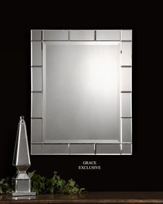 Uttermost Makura Beveled Mirror 08052 B