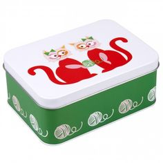 Blafre LunchBox Cat Red