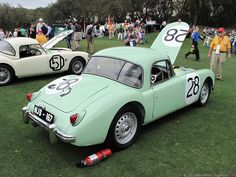 MG A .. 1956 RAC rally .. Mille Miglia .. Alpine rally .. Liege Rome Liege .. was then sold to Pat Moss for her own use .
