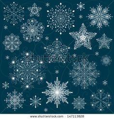 snowflakes set background vector by Nateykuru, via Shutterstock