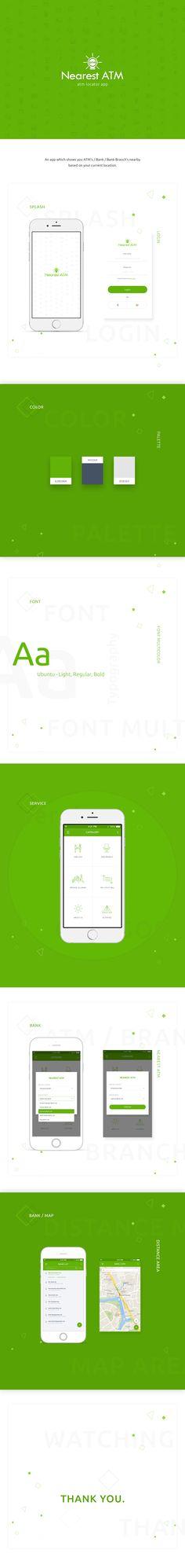 ATM Locator app on Behance