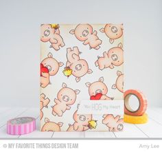 MFT Hog Heaven; pig; piggies; repeat stamping; love; anniversary; DIB on edges; adorable