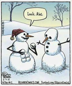Snowman abs lol cute