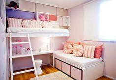 Decoração Quarto Infantil Feminino Pequeno + 100 Idéias com Fotos para decorar seu quarto Infantil Feminino seja ele Planejado, Retrô, Moderno ou Simples.
