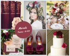 Marsala Wedding Colour Trends in Spain 2015