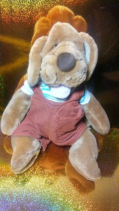 1981 Ganz Bros Wrinkles Dog Puppy Plush Puppet Rust Overalls Stuffed RARE HTF #ganzbros #wrinkles Misfit Toys, Pretend Play, Puppets, Rust, Overalls, Teddy Bear, Dog, Animals, Ebay