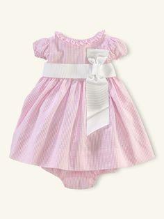 Seersucker Dress - Layette Dresses & Rompers - RalphLauren.com