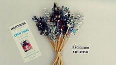 Flores de papel con hojas de revista - #desafioopitec de #HandBox #micatalogoopitecahoraes https://www.facebook.com/elrecicladocreativo/videos/1120679771297879/