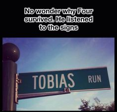 If only there was a TRIS run sign