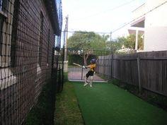 Backyard cricket nets google search outdoor decor for Indoor cricket net design