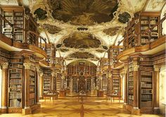The Abbey Library of Saint Gall, Abbey of Saint Gall, St. Gallen, Switzerland. It is the oldest library in Switzerland, and one of earliest and most important monastic libraries in the world.