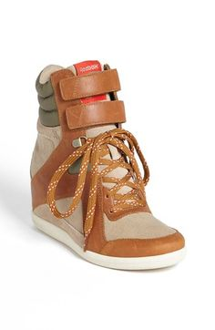 Reebok 'Wedge A. Keys' Sneaker (Women) available at I don't really fuck with reebok but these are cute. Sneaker Heels, Wedge Sneakers, Shoes Sneakers, Shoes Heels, Sneakers Style, Summer Sneakers, Adidas Sneakers, Chanel Sneakers, Orange Sneakers
