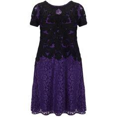 Studio 8 Kendra Tapework Dress, Purple ($155) ❤ liked on Polyvore featuring dresses, plus size maxi dresses, short sleeve maxi dress, purple dress, floral midi dress and short-sleeve maxi dresses