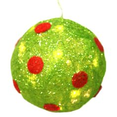 Lighted Polka Dot Ball Christmas Decoration