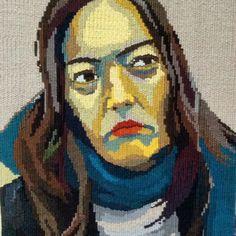 #tapestry #portrait #weaving #handmade #paint#picture #돛자리그림 #태피스트리 #타피 #직조 #초상화 #인물화 #그림 #20대 #무기력 #친구얼굴