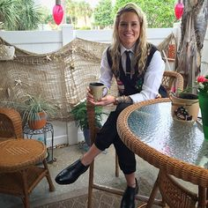 Another look from Ashlyn Harris! Love her style