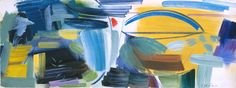 Ivon Hitchens 'Arno No. 1965 © The estate of Ivon Hitchens Your Paintings, Landscape Paintings, Lily Pictures, Monet Water Lilies, Tate Gallery, Action Painting, Art Uk, Blue Abstract, Painting Inspiration