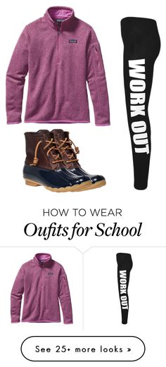 """""""Patagonia normal school day"""" by melw44 on Polyvore featuring Sperry, Patagonia and WearAll"""