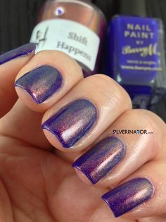 Girly Bits 'Shift Happens' over Barry M 'Indigo'