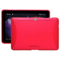 TPU Shell (Rød) Samsung Galaxy Tab 10.1 P7500 Deksel