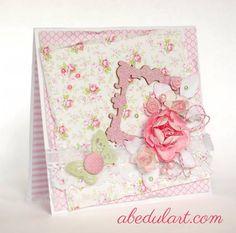 Con los papeles de #scrapbooking Bella Rosa podrás hacer cosas tan bonitas como esta tarjeta