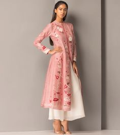 Red Chanderi #Long #Jacket