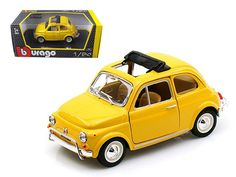 1968 Fiat 500 L Yellow 1/24 Diecast Car Model by BBurago - Brand new 1:24 scale diecast model of 1968 Fiat 500 L die cast model car by Bburago. Brand new box. Rubber tires. Made of diecast with some plastic parts. Detailed interior, exterior, engine compartment. Has opening opening doors and engine compartment. Dimensions approximately L-6,W-3,H-2.5 inches. Please note that manufacturer may change packing box at anytime. Product will stay exactly the same.-Weight: 2. Height: 6. Width: 11…
