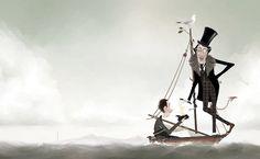 El esperadísimo nuevo cuento de Iban Barrenetxea, Benicio y el Prodigioso Náufrago (A Buen Paso), ya está en las librerías. Una historia sobre la fragilidad del alma humana ilustrándola con elegantes imágenes que nos presentan el mar y el barco de Benicio como inmenso escenario de una pequeña comedia.