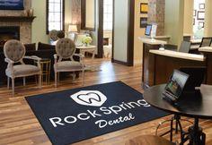 Rock Dental Office Logo Rug