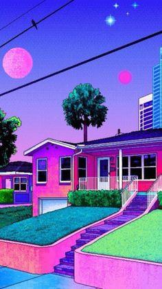 Trippy Wallpaper, Retro Wallpaper, Scenery Wallpaper, Neon Aesthetic, Aesthetic Collage, Trippy Photos, Foto Do Goku, Arte Indie, Vaporwave Wallpaper