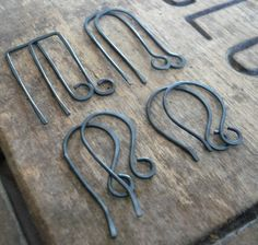 hand forged oxidised ear wires