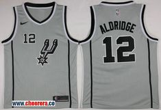 Men s Nike San Antonio Spurs  12 LaMarcus Aldridge Silver Statement Edition  NBA Swingman Jersey c8fb8ca92