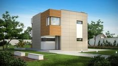 A comfortable house with a simple body and a modern style, with three bedrooms on the first floor. Container Shop, Two Storey House, Design Case, Minimalist Home, Home Fashion, Modern Architecture, House Plans, Home And Family, Villa