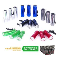 EverBrite 18-Pack Mini Aluminum LED Flashlight Set with Lanyard Batteries Included * This is an Amazon Affiliate link. Be sure to check out this awesome product.