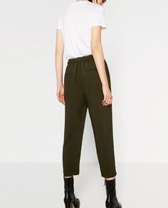 Image 5 of CROPPED TROUSERS from Zara