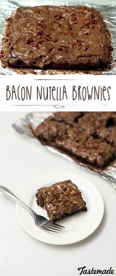 Bacon and chocolate are known to be delicious together, so naturally it makes sense to make Bacon Nutella Brownies! Take your brownie game to the next level with this salty, sweet delight.