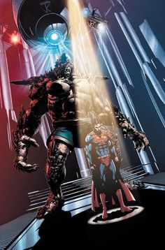 Doomsday is an incredibly powerful monster with regenerative abilities. Each time he dies he respawns having evolved past the last thing that killed him, making him slowly invulnerable over the course of centuries traveling the universe. Developed as a weapon in a facility by the scientist Bertron, he was tested out through many of his first deaths on the planet Krypton, giving him an immense natural hatred towards Kryptonians.