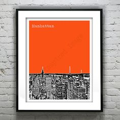 off Flash Sale Manhattan New York City Poster Print Art Poster Prints, Posters, Art Prints, College Names, College Graduation Gifts, Great Wedding Gifts, Manhattan New York, Pigment Ink, Black Wood