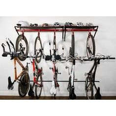Very Cool Bike Holder Thing With 4 Bikes In This House Im Kinda