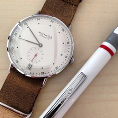 German to the core...the Nomos Metro 38 Datum is testing on the wrist of @mikeinfrankfurt Coming soon to fratellowatches.com! #fratellowatches #nomos #watches @nomos_glashuette
